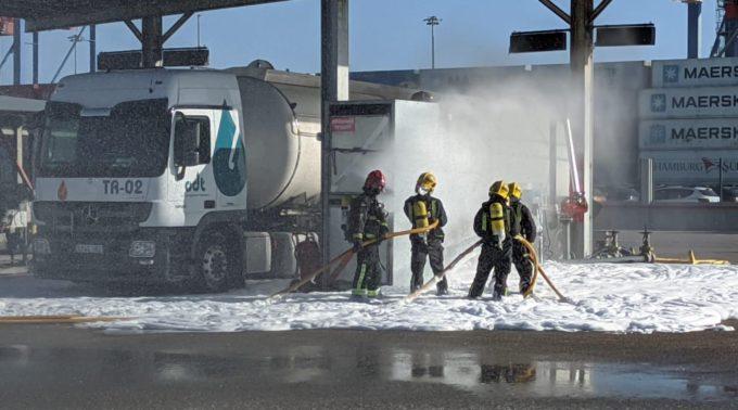 Simulacro de incendio en ODT
